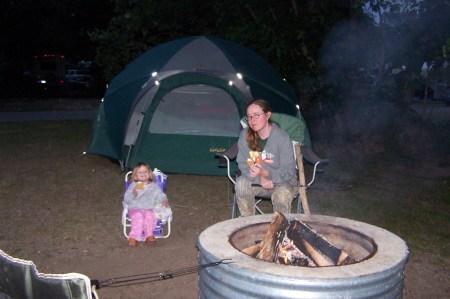 Realtree camo tightness, teensy adorableness, and big, obnoxious, smokey fire!