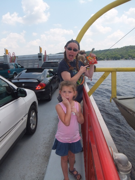 The Merrimac Ferry boards about 15 vehicles and (for those who know where to look) their Cheetos. Simply amazing.